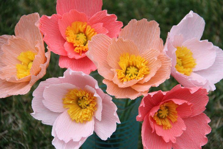 Iceland Poppy  crepe paper flowers  Paper poppies by FlowerBazaar