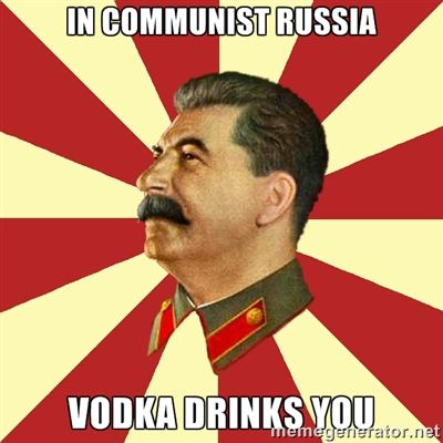 Russian Saying When Drinking Vodka