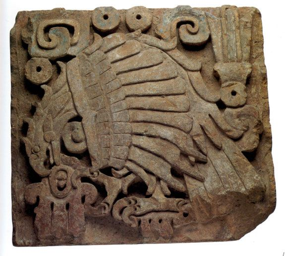 Eagle Relief, Precolumbian: Mexico; Toltec, 10th–13th century. Lent by the Metropolitan Museum of Art, Gift of Frederic E. Church, 1893 (93.27.1)