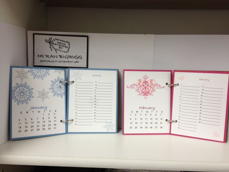 Stampin Up Calendar Ideas : Images about calendar stamped ideas on pinterest