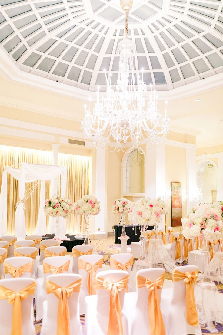 Mayflower Hotel Wedding Photos DC Pink & Gold Winter Wedding Blush Florals Megan Kelsey Photography
