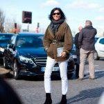 Emmanuelle Alt в одежде от Celine. Уличный стиль на неделе моды в Париже 2014 год