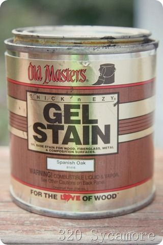old masters gel stain-no need to sand completely to re-stain wood