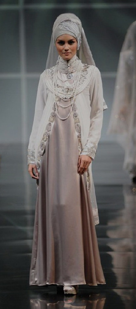 All sorts of modest styles can be beautiful!  A muslim wedding dresses 2012.