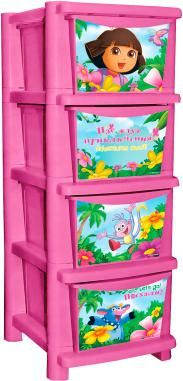 """Даша путешественница  — 2199р. --------------------------------- Детский комод Little Angel """"Даша путешественница"""". Пожалуй, самая необходимая вещь в детской для девочек. В нем можно аккуратно разложить по полочкам любимые игрушки или милые сердцу вещи. Сглаженные углы и облегченная конструкция комода безопасны даже для самых активных малышей. Яркие цвета станут прекрасным дополнением детской комнаты. Все ящики выдвижные, поэтому ребенок может самостоятельно доставать игрушки и прибирать их…"""