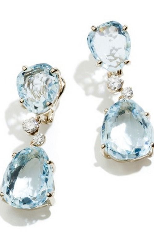 Topaz and Diamond Earrings...