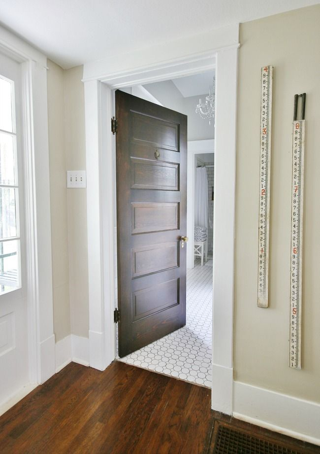 When Your Doors Go All 1908 Thistlewood Farm Stained Doors White Trim Brown Interior Doors Wood Doors White Trim