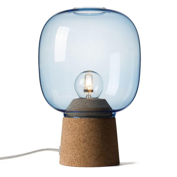 Lampe de table en verre bleu - Picia - Enrico Zanolla - Visuel 1