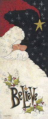 Believe in Santa Christmas Lisa Hilliker Framed Picture | eBay