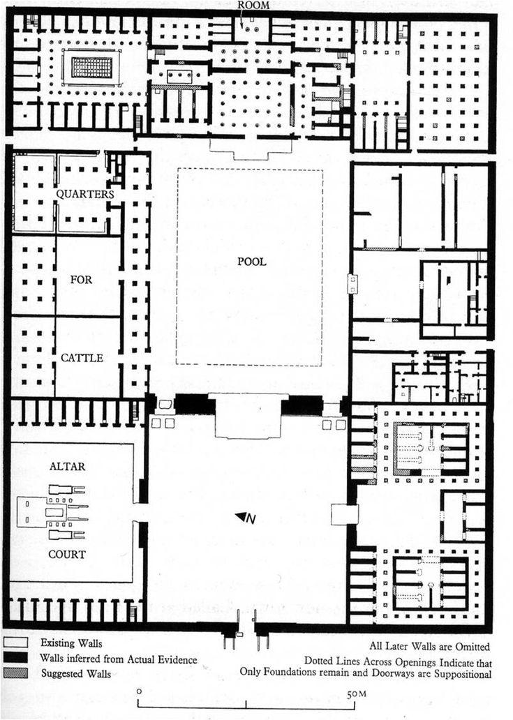 North palace akhetaten el amarna 1360 kor egyiptom for Final fortress blueprints