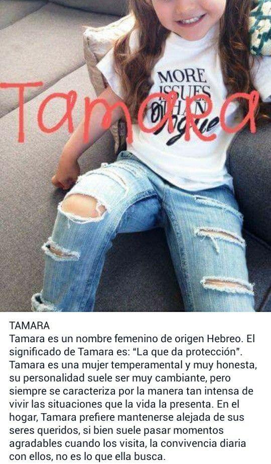 Nombres de niñas, significado del nombre Tamara