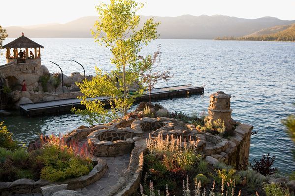 Lake Tahoe Wedding at the Thunderbird Lodge by @Catherine Hall Studios via TahoeUnveiled.com/blog
