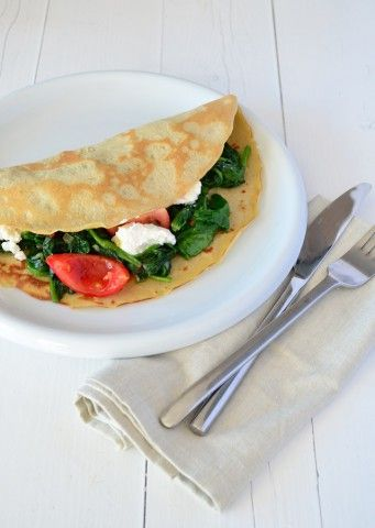 Gevulde quinoa pannenkoek - Uit Paulines Keuken #healthy #Voedselzandloper