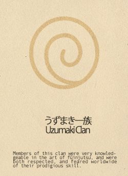 the Ukamaki Clan's symbol represents friendship and is on all Leaf Shinobi uniforms.