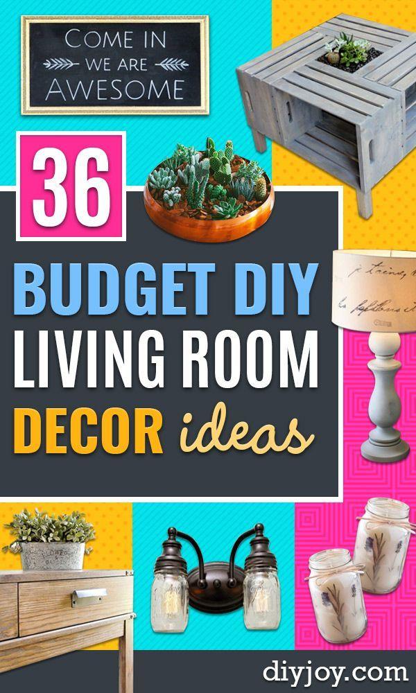 36 Diy Living Room Decor Ideas On A Budget Diy Living Room Decor
