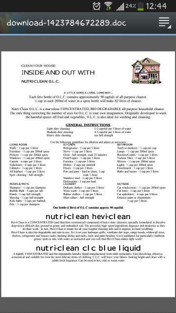 OLC & nutri-clean hevi-clean