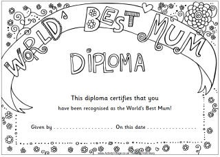 Print and colour in certificates for kids to give Mums, Dads, Grandmas and many more! Link takes you straight to the craft project.
