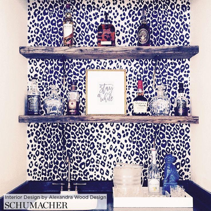 5007011 Iconic Leopard, Linen Schumacher Wallpaper