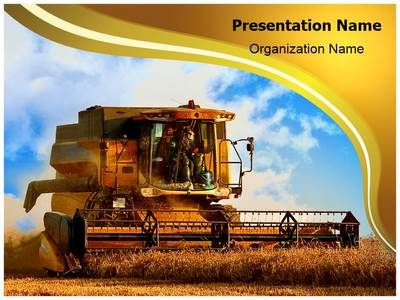 Combine Harvester Powerpoint Template is one of the best PowerPoint templates by EditableTemplates.com. #EditableTemplates #PowerPoint #Combine #Rural #Agriculture Industry  #Agriculture #Farm #Country #Machine #Golden #Combine Harvester #Harvester #Harvesting #Agricultural #Harvest #Farm Equipment #Machinery #Tractor #Farming