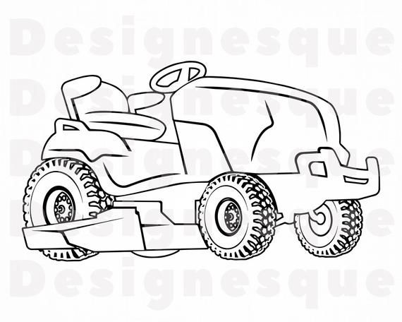 Lawn Mower Tractor Outline Svg Lawn Mower Svg Landscaping Etsy In 2021 Lawn Mower Tractor Lawn Mower Mower