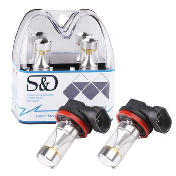 2 pcs H11 lâmpadas LED Cree Chips de Alta Potência 30 W Carro DRL Daytime Fonte de Luz Running Nevoeiro estacionamento H8 H9 12 V 6000 K Branco D035