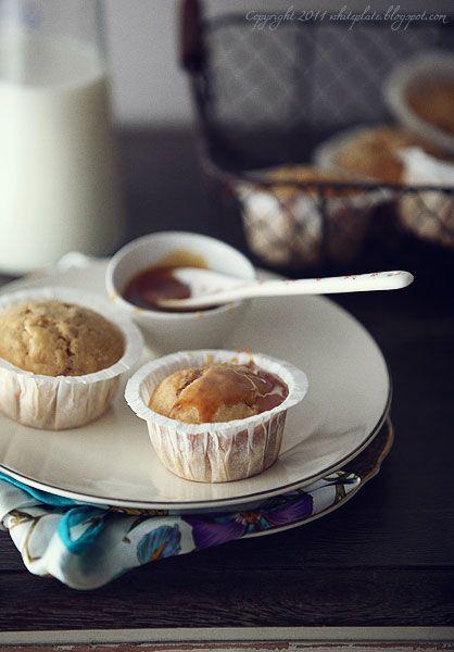 White Plate: Muffinki bananowo-karmelowe