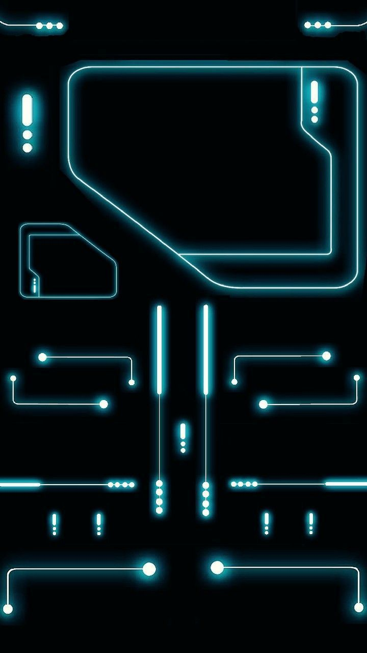 Art & Line Circuit Design Wallpaper in Blue Background #art #line #circuit #wall… #Technology