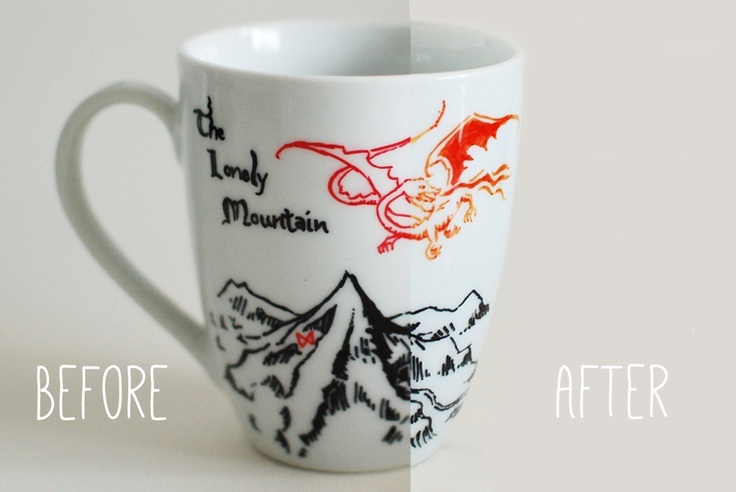 Glitter Mint: Sharpie Mugs #hobbit