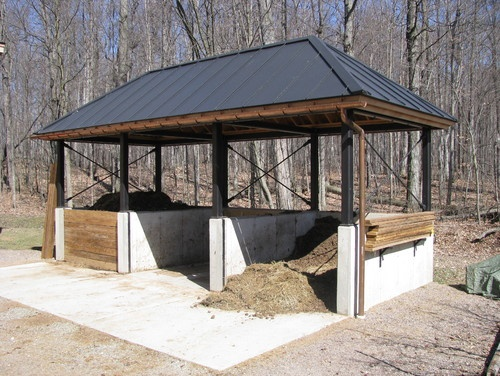 Clever and attractive composting space.