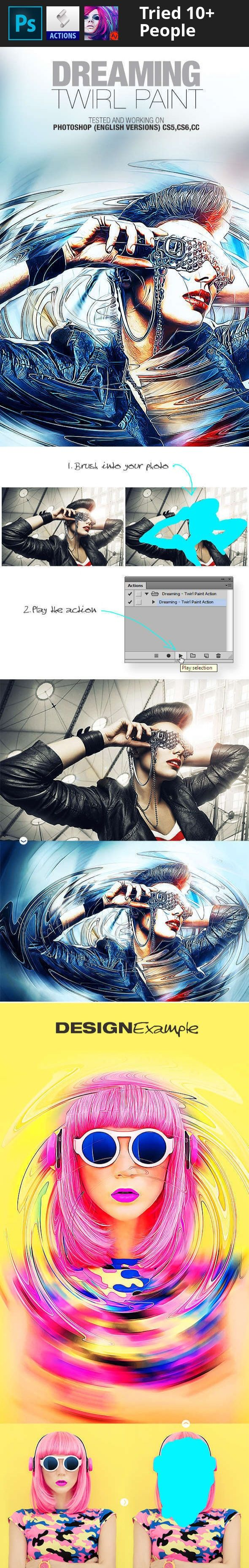 abstract, action, actions, advertising, amorjesu, beautiful, dispersion, double exposure, dream, dreaming, effect, flyer, hipster, manipulation, mixart, paint, painting, photo, photo templates, photoshop, poster, sandstorm, shatter, shimmer, texture, twirl     You may also like:  Professional Skin Art Photoshop Action Modern Art V1 Photoshop Action     Tested and working on Photoshop (English versions) CS5,CS6,CC  How to change language    FEATURES   Easy to use Intructions in the Help…