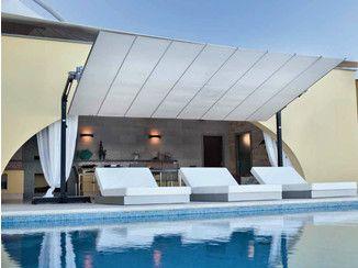 Rectangular aluminium Garden umbrella FLEXY GRAPHITE - FIM