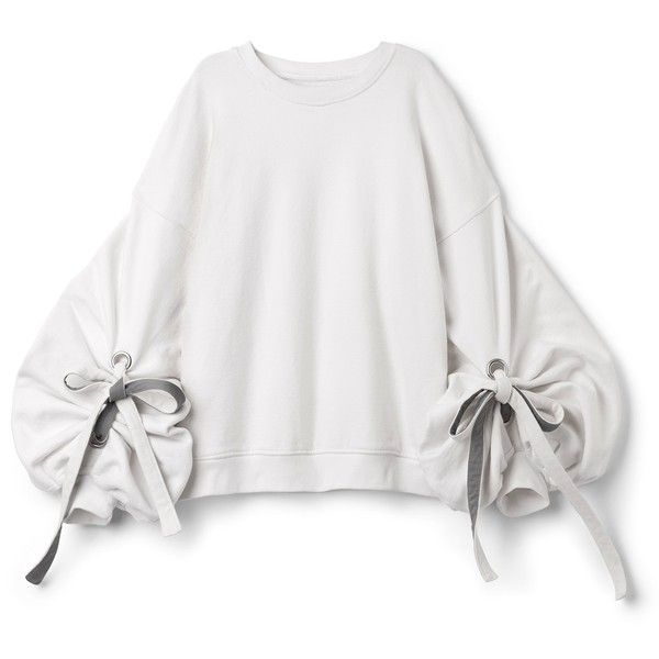 Sweater With Edwardian Sleeves ❤ liked on Polyvore featuring tops, sweaters, sleeve top, ruched tops, shirred top, kimono sleeve sweater and ruched sleeve top