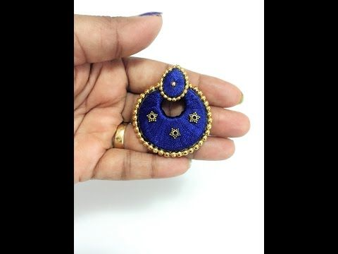Sangi's creations: Silk thread Chandbali earring tutorial