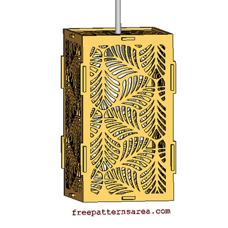 Free laser cutting drawing files for leaf-shaped hanging pendant light shades.You can cut chandelier from wood, mdf, plywood, balsa, acrylic, cardboard and so on.This design is drawn with 2d cad program. Then converted to 3d and vector file formats.You can download the free files (dwg, dxf, pdf, svg, eps, png and stl) for your laser