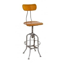 All Original American Made Industrial Adjustable Height Factory Stool  Designed And Patented By Clement Uhl For The Toledo Metal Furniture Co.,  Toledo, ...