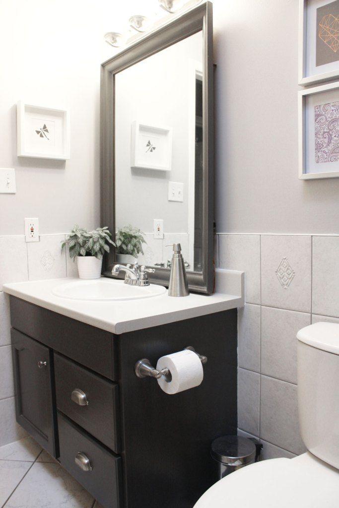 Updating A Bathroom On A Small Budget Bathroom Update Bathroom
