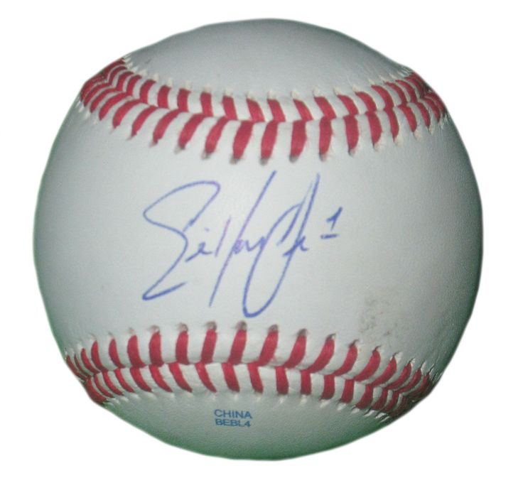 Eric Young Jr. Autographed Rawlings ROLB1 Leather Baseball, Proof Photo