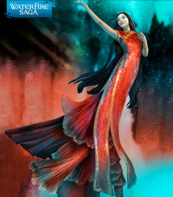 Ling. China. Qipao. The Waterfire Saga. Mermaid.