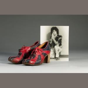 A pair of Marc Bolan's shoes, 1970's.