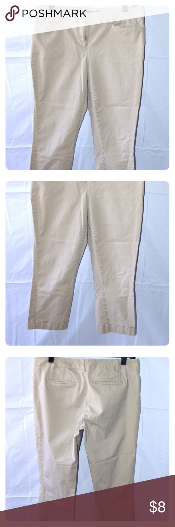 New York & Company Khaki Capri's New York & Company khaki capris. Size 6. 98% Cotton 2% Spandex New York & Company Pants Capris