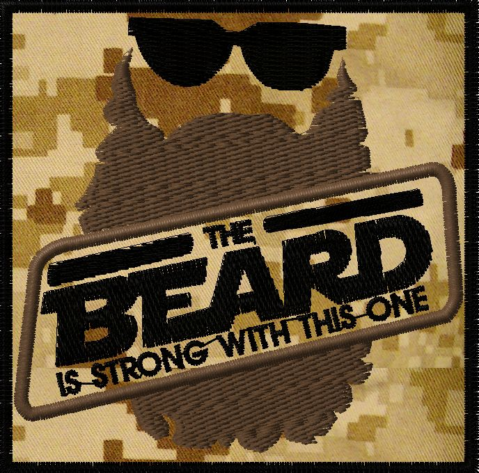 OMLpatches.com - The Beard is Strong..Morale patch, $6.50 (http://www.omlpatches.com/the-beard-is-strong-morale-patch/)