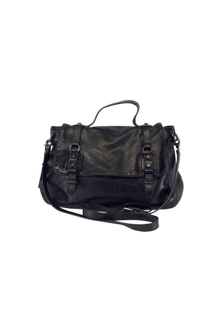 Coccinelle- Black Leather Crossbody Bag   Current Boutique
