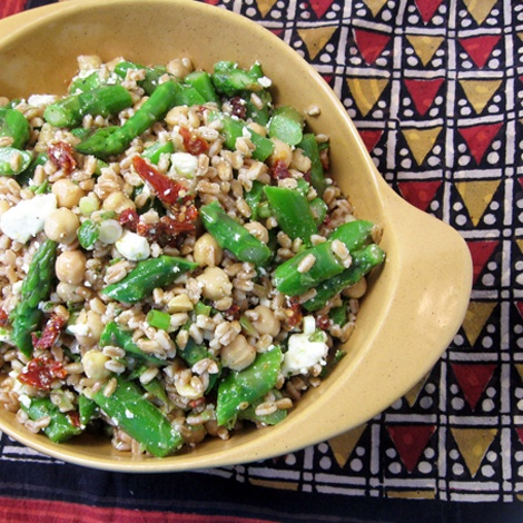 Burp!: Farro Salad with Asparagus & Feta | Melodee | Pinterest