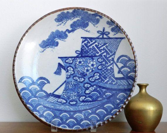 Vintage Japanese Igezara Blue White Porcelain by ModRendition