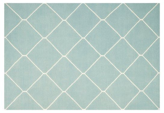 Papillon Dhurrie Rug, Light Blue - Rugs - Sale by Category - Sale | One Kings Lane