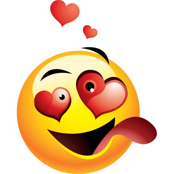 If you are head over heels about someone special, this is the right smiley for you to share with them.