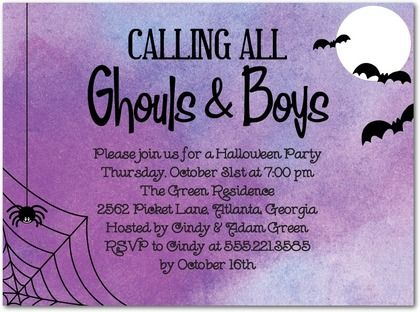 198 best halloween party invitations images on pinterest halloween spooky halloween party invitations stopboris Choice Image