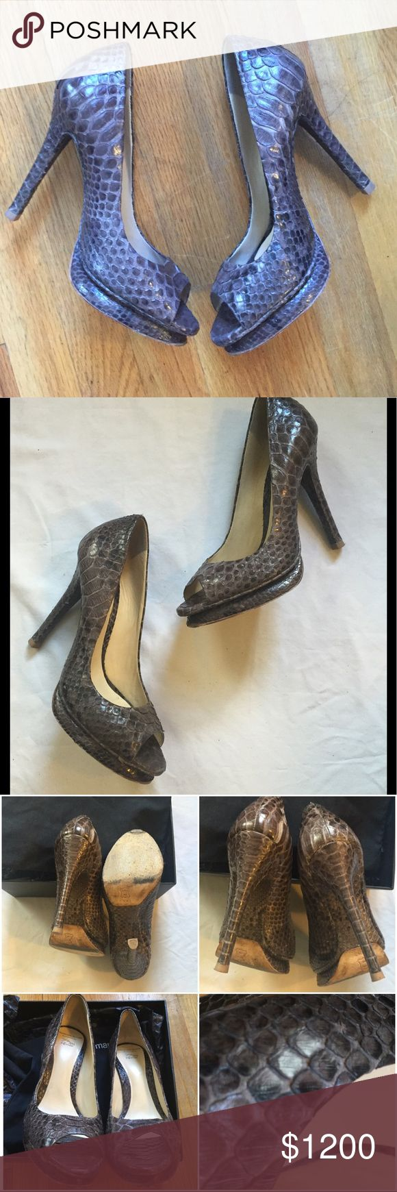 Salto Meia Pata 🆕Python Platform Pumps Alexandre Birman's Salto Meia Pata Python Platform Pumps in Storm. Size 39.5 🚫NO OFFERS🚫 CAN NOT SHIP TO CALIFORNIA Alexandre Birman Shoes Platforms