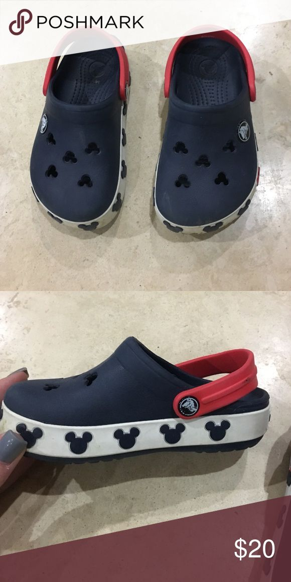 Toddler Crocs Bought in Disney a few years ago. They need to be wiped down but I will do it for the buyer. 7/10 after cleaned I'd say 9/10 CROCS Other