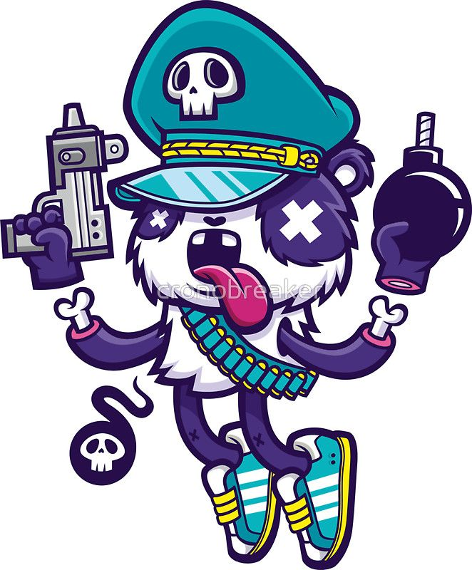 """Panda Warrior"" Stickers by cronobreaker 